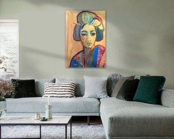 Schattierungen von Blau von Helia Tayebi Art