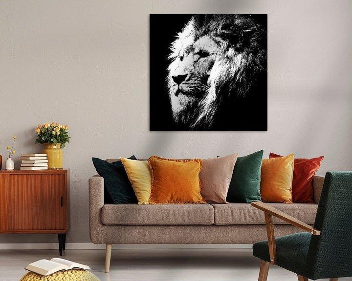 Beispiel: Lion - black and white von PictureWork - Digital artist