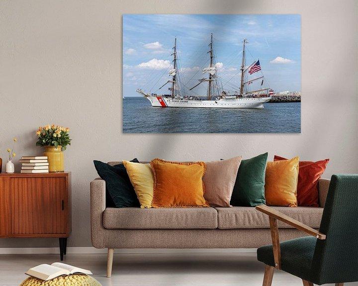 Beispiel: US Coast Guard antiker Großsegler, Schiff von Digikhmer