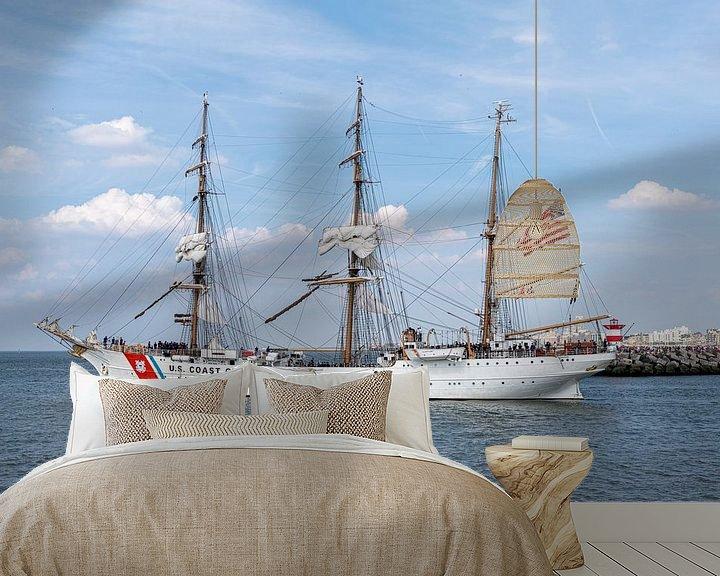 Beispiel fototapete: US Coast Guard antiker Großsegler, Schiff von Digikhmer
