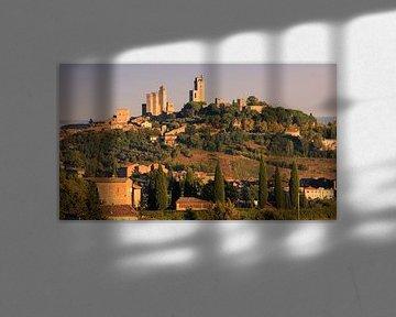 San Gimignano, Toscane, Italie sur Henk Meijer Photography