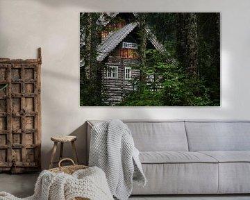 Jachthuis bij de Gosausee, Oostenrijk van Melissa Peltenburg