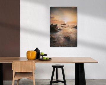 Sunset at Lefkada van Roelie Steinmann