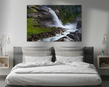 Onderste deel van de Krimmler watervallen van Melissa Peltenburg
