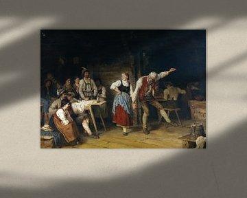 Großvaters Tanzunterricht, FRANZ VON DEFREGGER, 1872 von Atelier Liesjes