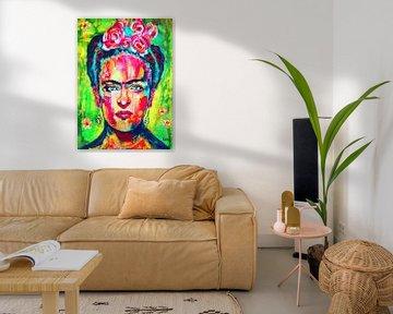 """Frida Kahlo """"Leuchtend"""" von Kathleen Artist Fine Art"""
