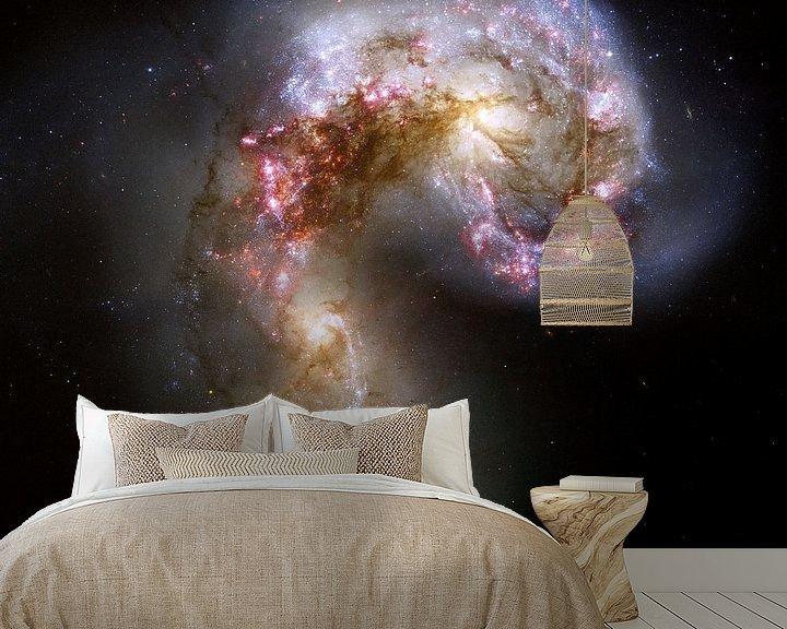 Sfeerimpressie behang: Hubble image of the Antennae galaxies van Brian Morgan