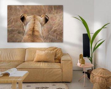 Leeuw in Serengeti National Park, Tanzania van Teun Janssen