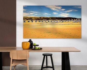 Strandhuisjes van Digital Art Nederland