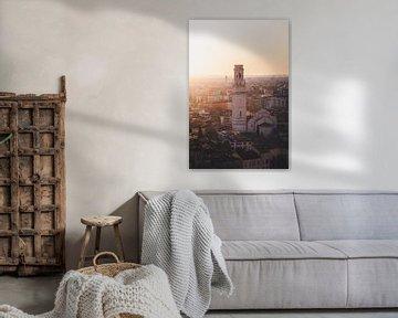 Verona Dom bei Sonnenuntergang von Tes Kuilboer
