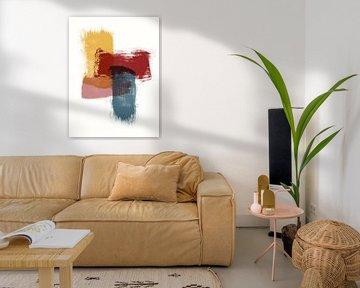 Layers - Abstrakter Druck mit Farbstreifen von MDRN HOME