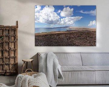 Panoramisch uitzicht op het schiereiland Jandia op het Canarische eiland Fuerteventura van Reiner Conrad