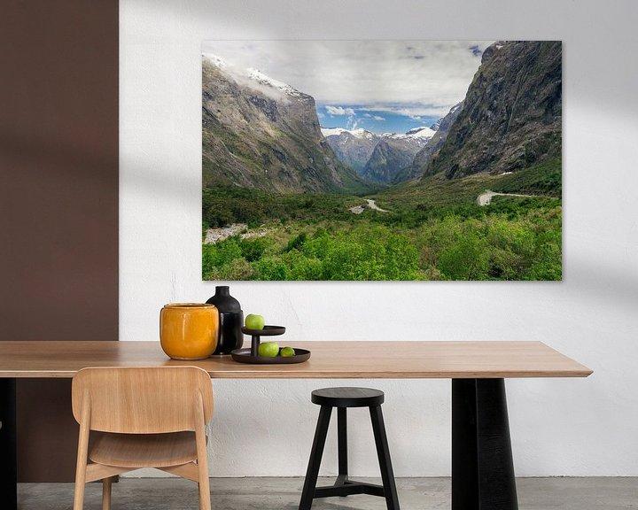 Sfeerimpressie: Uitzichten langs de Milfordroad in Nieuw-Zeeland van Linda Schouw