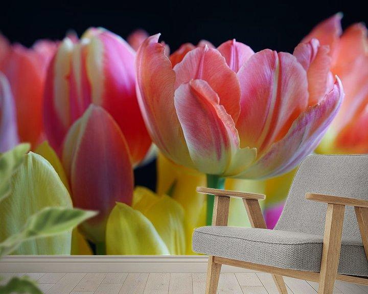 Sfeerimpressie behang: Tulpen van Ineke Klaassen