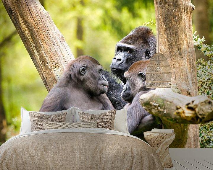Sfeerimpressie behang: Gorilla van Visueelconcept