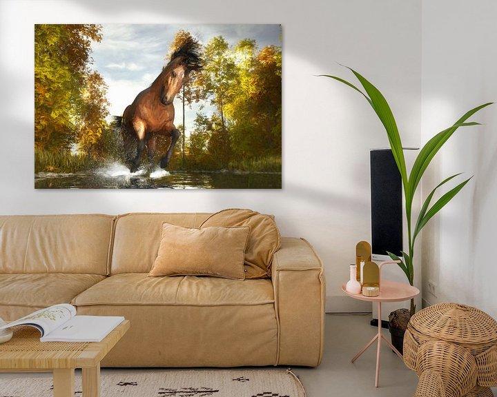 Sfeerimpressie: Geschilderd rennend paard van Arjen Roos