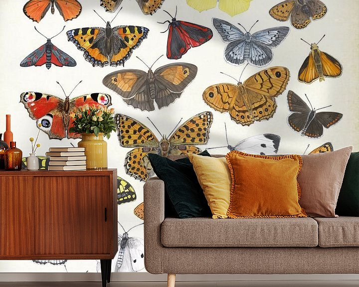 Sfeerimpressie behang: Butterflies van Jasper de Ruiter
