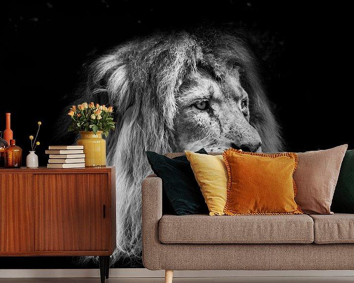 Beispiel fototapete: Tiere | Löwe von Sylvana Portier
