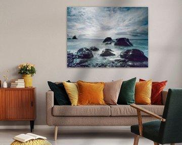 Explodierender Himmel, Talisker Bay von Hans den Boer