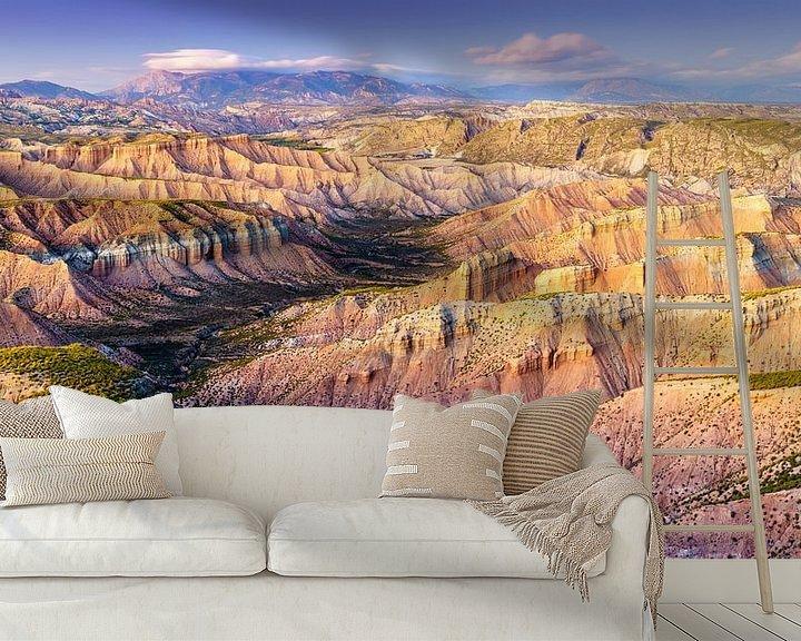 Sfeerimpressie behang: Andalusian canyonland van Steven Driesen