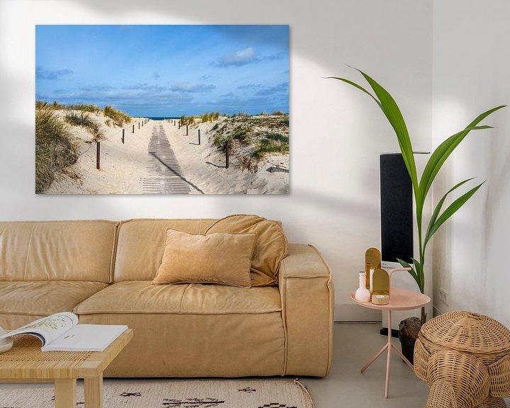 Beispiel: Strandaufgang an der Küste der Ostsee in Warnemünde von Rico Ködder