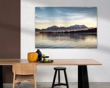 Chiemsee Blick auf die Berge von Munich Art Prints