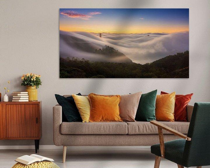 Sfeerimpressie: San Francisco Bay Area van Photo Wall Decoration