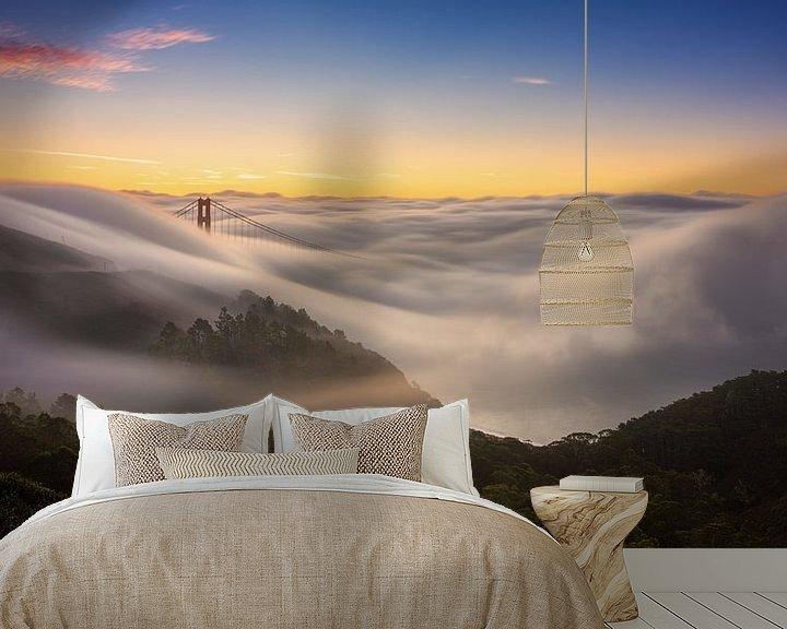 Sfeerimpressie behang: San Francisco Bay Area van Photo Wall Decoration