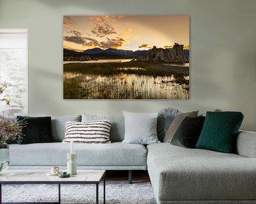 Mono Lake bij zonsondergang, Californië, USA, van Markus Lange