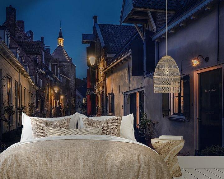 Sfeerimpressie behang: Muurhuizen in Amersfoort van Edward Sarkisian