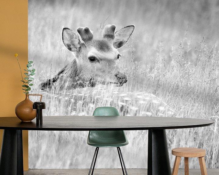 Sfeerimpressie behang: Damhert van joas wilzing