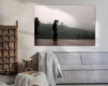 Silhouet van Chinese boer van André van Bel