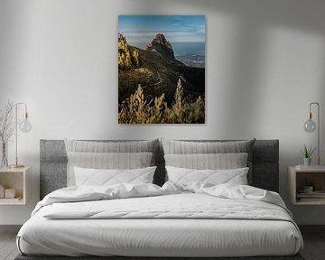 Wandelpad in de bergen van Gran Canaria van Justin T