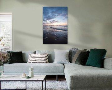 Lila Sonnenuntergang am Meer von Justin T