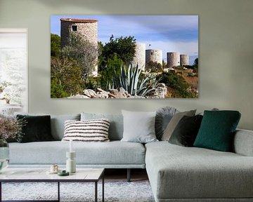 Molins de la Plana auf einem Bergrücken in der Nähe von Javea in Spanien von Gert Bunt