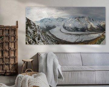 Gorner gletsjer bij Zermatt Zwitserland in de ochtend van Martin Steiner