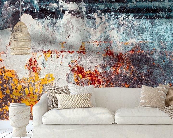 Sfeerimpressie behang: Kleurrijke abstractie van Tijmen Hobbel