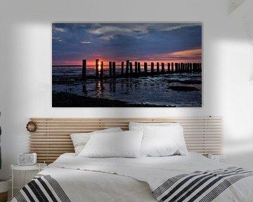 Gestimmter Sonnenuntergang / Sonnenuntergangsstimmung von Henk de Boer