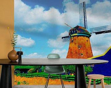 Molen in Uitgeest van Digital Art Nederland