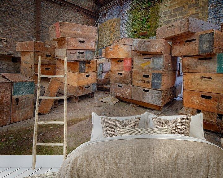 Beispiel fototapete: Urbex: Särge in einer verlassenen Kristallfabrik von Carola Schellekens