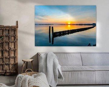Blauer Himmel bei Sonnenuntergang von Vincent den Hollander