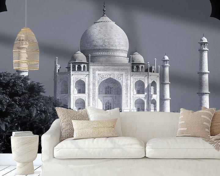 Sfeerimpressie behang: Taj Mahal, Agra, India van Henk Meijer Photography