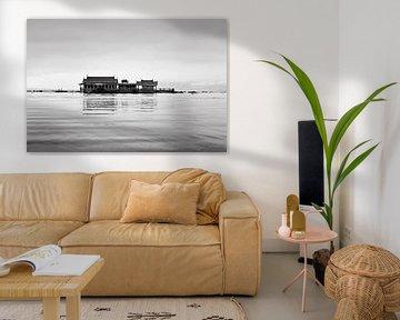 Schwimmende Häuser auf dem Inle-See von RUUDC Fotografie
