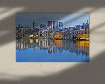Binnenhof en skyline Den Haag