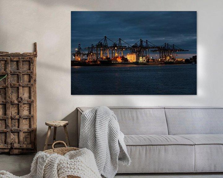 Beispiel: Hamburger Hafen bei Nacht von Borg Enders