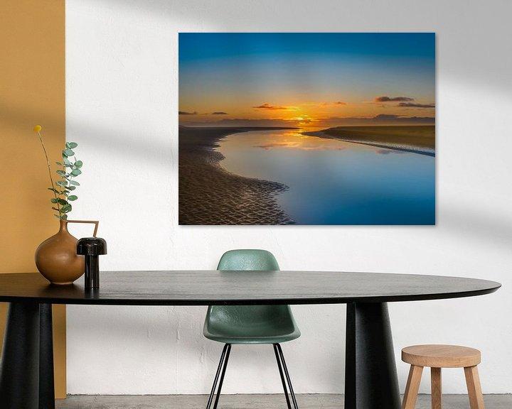 Beispiel: Untergehende Sonne auf dem Noordsvaarder Terschelling von Jan Huneman
