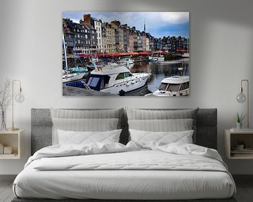 Hafen von Honfleur von Ingrid de Vos - Boom