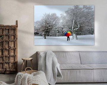 Winterschilderij Schauinsland van Patrick Lohmüller