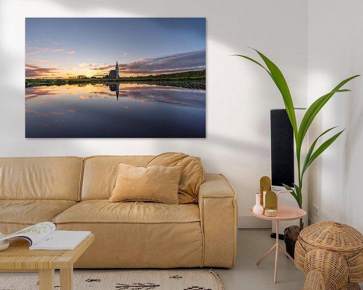 Sfeerimpressie: Texel Den Hoorn zonsondergang spiegel effect door kolk van Texel360Fotografie Richard Heerschap