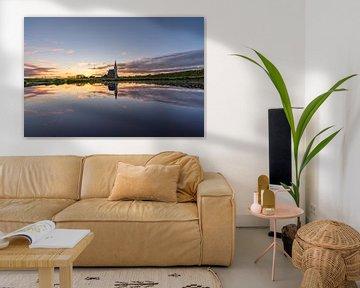 Texel Den Hoorn zonsondergang spiegel effect door kolk van Texel360Fotografie Richard Heerschap